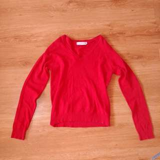 Zara: Red Long Sleeve Sweater (free shipping in Metro Manila)