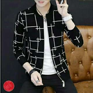 OF - Jacket Fico Navy 77.000  Bahan babyterry printing fit to L Ld90 P60 pakai resleting