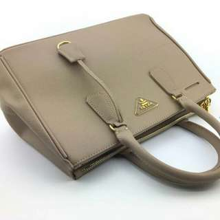 Prada Saffiano Lux Bag Beige Color