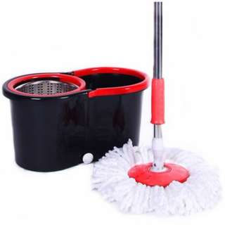 Easy Spin Mop Stainless Steel [2 Microfiber Mop Heads #cny88