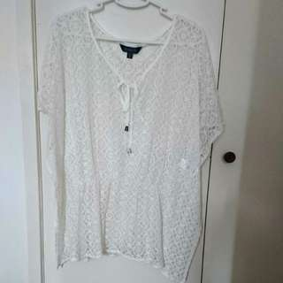 Glassons White Lace Top