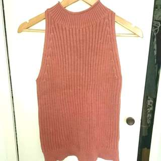 Sportsgirl Mock Neck Knit Tank Top