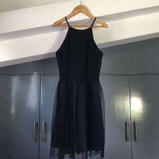 Black halter tutu dress