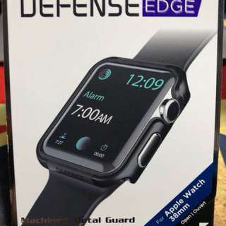 x-doria Apple Watch S1/2/3金屬保護殼邊框 38mm