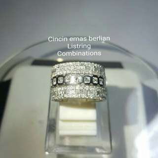 Cincin Emas Berlian Listring Combinations.