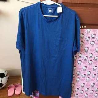 Men shirt blue large on tag