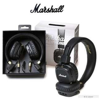 Original Mashall Major II Bluetooth Headphones - Barely used 10/10 condition