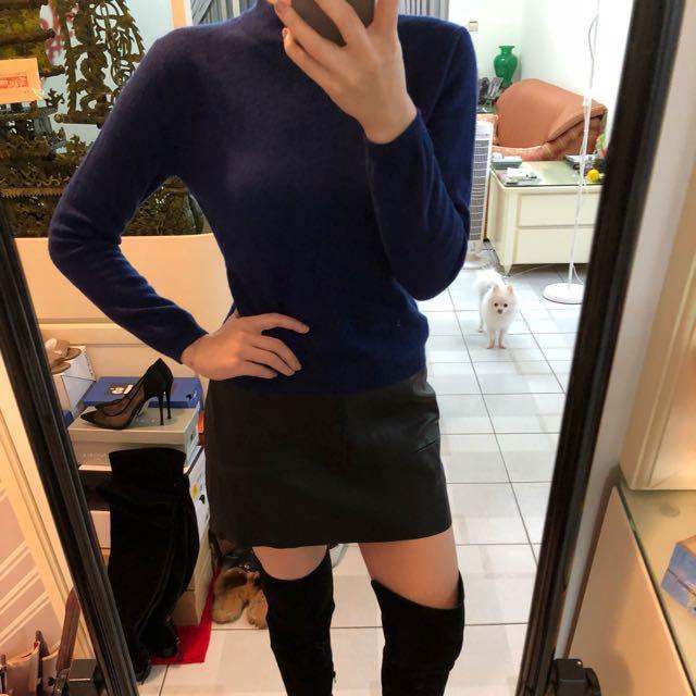 藍色100%羊毛毛衣