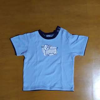 Light blue tshirt w/ dog pri t