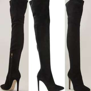 Thigh High Suede Stiletto Boots