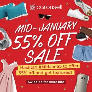 Mid January 55% Sale