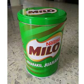 Vintage Milo Metal Container (Malaysia 50th National Day)