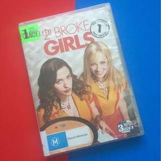 2 Broke Girls DVD Complete Season 1. Region 4 (shipping included)