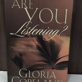 Charity Sale! Are You Listening by Gloria Copeland