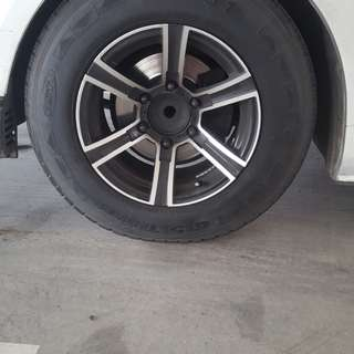 """Hiace - Nissan 15"""" Rim plus nuts and tool"""