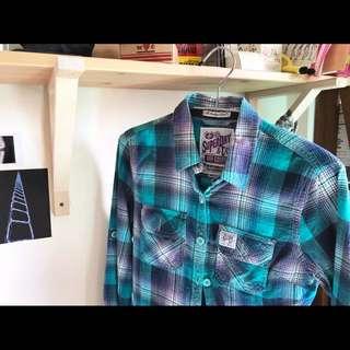 🚚 Superdry 極度乾燥 格子襯衫