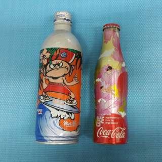 可樂 百事 舊 汽水 樽 紀念版 coca cola 特別版 Pepsi 日本版 W-24