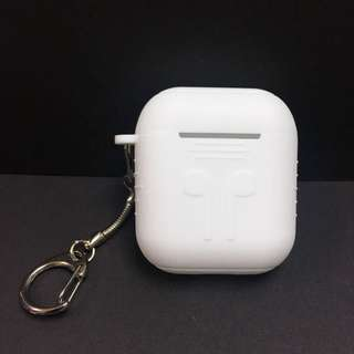 減價🈹包平郵【實物拍攝】 白色 AirPods 矽膠保護套連防跌掛鏈