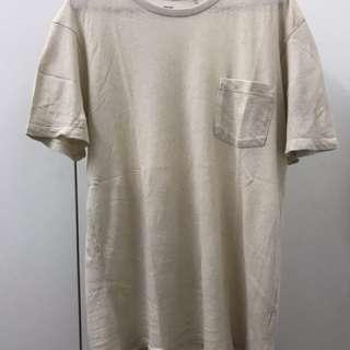 Uniqlo Beige Roundneck T Shirt