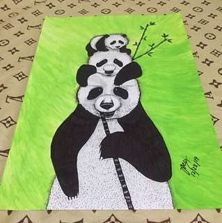 Panda Family artwork