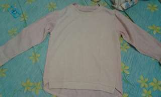 Baju semi sweater pink