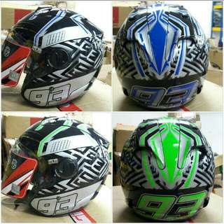 Helmet xdot available 4 colour