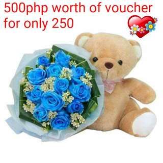 500php worth of voucher for beautiful Flowers