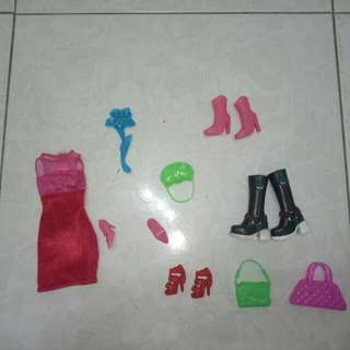 Barbie Doll Clothes,Bag And Shoes