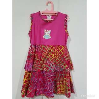 #ImlekHoki Dress mix batik