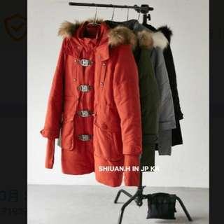 2017 日本連線帶回最新款SLY N3B真大毛領貍毛鋪棉羽絨外套雪地(訂金賣場)