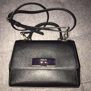 Authentic Michael Kors extra small callie black handbag bag