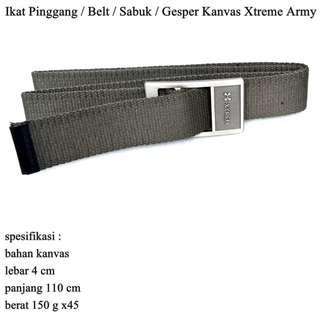 Ikat Pinggang Pria / Belt / Sabuk / Gesper Kanvas Xtreme Army