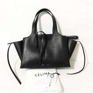 Celine Tri-fold black leather