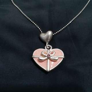 優質琺瑯 心型項鏈 蝴蝶結項鏈 金屬項鍊