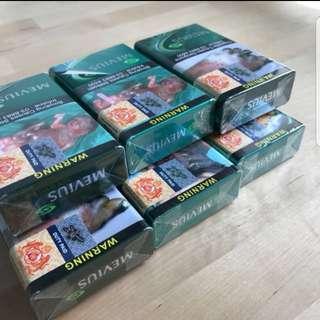 Mevius cigarettes, sealed & unused
