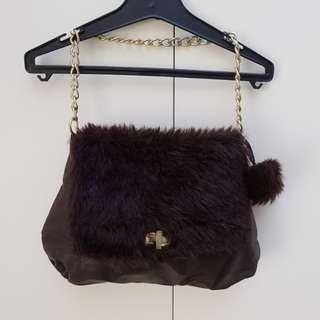 Vintage fur bag