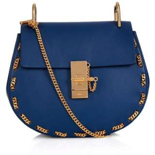 Chloe drew bag with gold chain