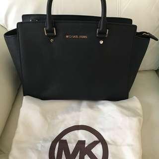 Michael Kors Selma Saffiano Leather Medium Satchel - Genuine