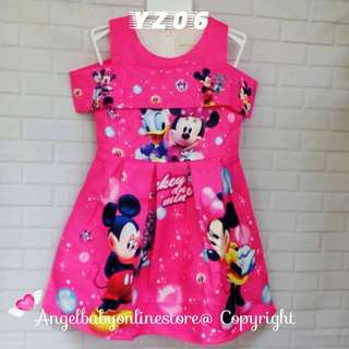(Nett Price) Minnie Mouse Pink Dress