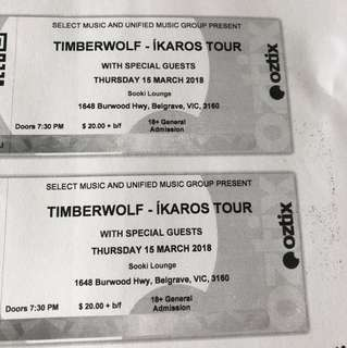 Timberwolf ikaros tour