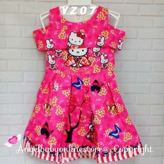 (Nett Price) Hello Kitty Kimono Pink Dress