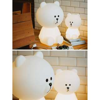 BNIP Line friends limited edition lovely brown bear table lamp