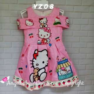 (Nett Price) Hello Kitty Light Pink Dress