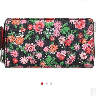 全新正品: Coach Small Double Zip Coin Case Purse Posey Cluster Floral F57985