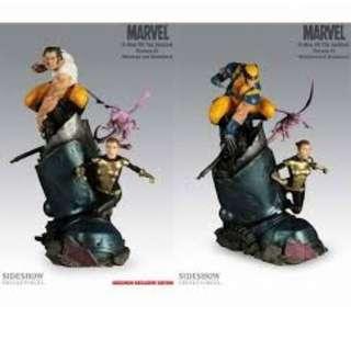 Sideshow Exclusive Wolverine & Shadowcat sentinel feet(Not Bowen XM)