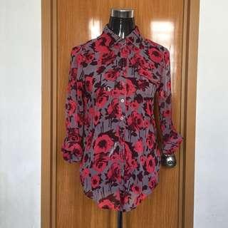 Floral Button Top