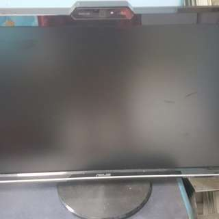 "Asus 22"" 22 inch lcd monitor vk222h with webcam 1.3mp"