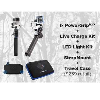 PowerGrip H2O : Waterproof Battery-Powered GoPro® Grip