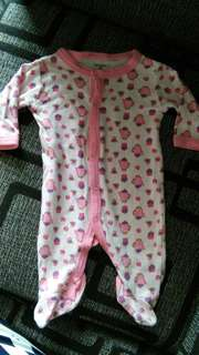 Calvin Klein baby sleepsuit
