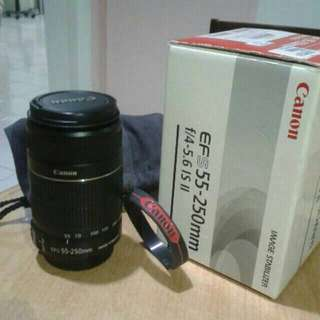 Canon lens (55-250)mm